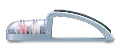 银色/黑色大型两级磨刀器